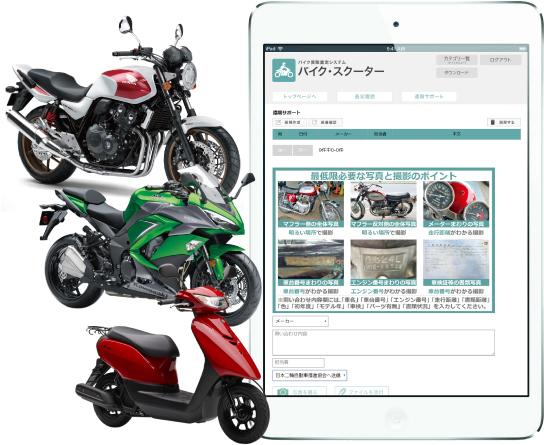 バイクシステムはiPadやiPhoneでも使用できます