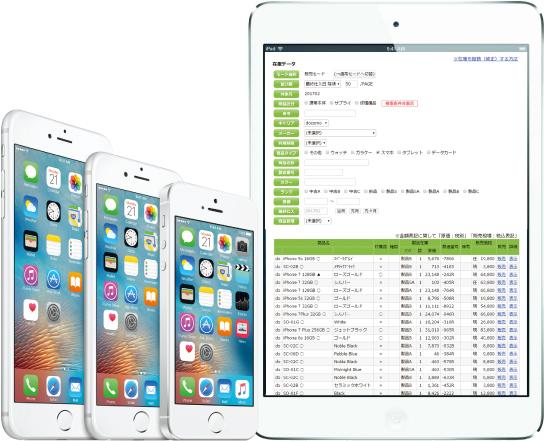 携帯システムはiPadやiPhoneでも使用できます
